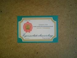 Régi boros címke-Egerszóláti olaszrizling 1970-es évek közepe