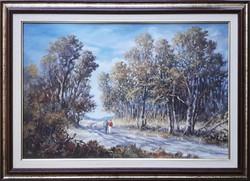Sipos István gyönyörű olajfestménye, 40x60 cm