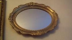 BLONDEL keretes,elegáns ovális tükör.(fából)