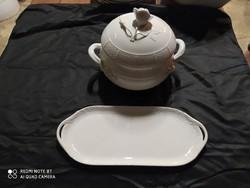 Herendi fehér porcelán étkészlet eladó
