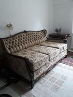 Neobarokk ágyazható kanapé ágyneműtartóval