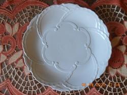 Zsolnay egyszínű fehér, süteményes kínáló tál