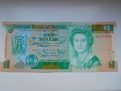 Belize 1 dollár 1990 UNC Nagyon Ritka!