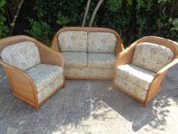 Knoll ülőgarnitúra, szófa, két fotel, nádazott