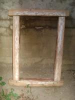 Régi fenyő ablak keret - parasztházból