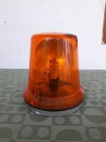 Régi retro TGL DDR német villogó figyelmeztető vészvillogó lámpa 12V