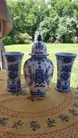 Delft blue urnaváza, váza párral-darabonként is elvihető