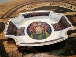 Hollóházi,Faragó Miklós exclusive tál,tányér