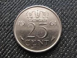 Hollandia I. Julianna (1948-1980) 25 Cent 1961 (id30930)