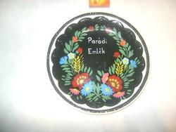 """""""Parádi emlék"""" - régi festett tányér, falitányér, falidísz"""