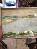 Szőnyi J. jelzéssel, 40 x 30 cm-es, olaj, karton festmény.