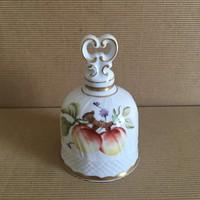 Hollóházi csengettyű, kézzel festett, Sophiane dekorral