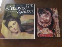 2 darab német nyelvű könyv, Dresdai galéria