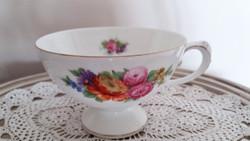 Régi Rosenthal porcelán virágos talpas rózsás kávés csésze 1 db
