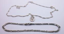 Ezüst nyaklánc és karlánc + Szt. Kristóf függő 925