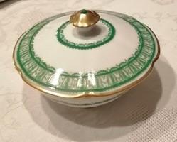 Kézi festésű Budapest Drasche porcelán bonbonier
