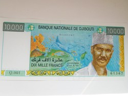 Dzsibuti 10000 francs 2009 UNC Ritka! A legnagyobb címlet!