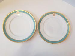 GYŰJTŐK FIGYELMÉBE AJÁNLOM! Jelzett 2 db herendi porcelán tányér a spanyol királyi család címerével