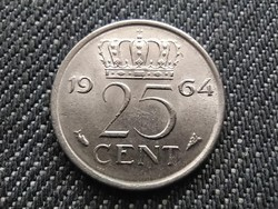 Hollandia I. Julianna (1948-1980) 25 Cent 1964 (id30939)