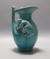 Zsolnay alapmázas arató váza, hibátlan.