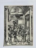 Albrecht Dürer - Glorification of the Virgin - vízjeles papíron