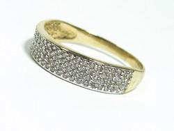 Női arany gyűrű apró kövekkel (Kecs-Au87413)