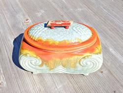 Art deco színes asztali edény