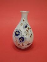 Zsolnay búzavirágos ibolya váza