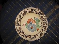 Régi, Borszék kerámia tál, tányér, 23 cm (41)