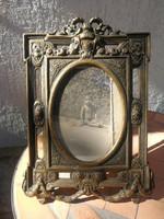 Réz, bronz fotókeret, fotóráma fényképtartó ovális belső, Dekoratív mutatós, ajándéknak is ajánlom!