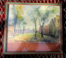 Gross Arnold akvarellje ifjúkorából