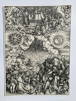 Albrecht Dürer - Opening of the Fifth and Sixth Seals - vízjeles papíron