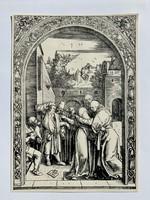 Albrecht Dürer - Joachim and St. Anne Meet at the Golden Gate - vízjeles papíron