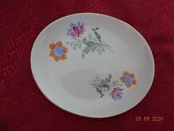 Hollóházi porcelán tavaszi virágmintás tálka, asztalközép, mérete 12 x 10 x 2 cm.