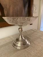 Antik ezüst gyümölcsös tál