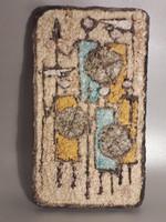 Nagy méretű Janáky Viktor vagy Végvári kerámia fali dísz fali kép - jelzetlen