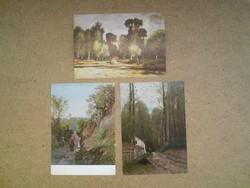Régi, tájkép festményt ábrázoló képeslapok