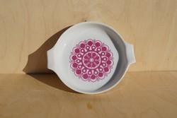 Retro Alföldi porcelán ritka mályva színű Menza mintás hamutartó hamuzó hamutál