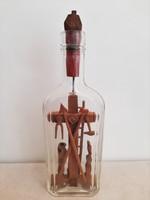 Antik vallásos témájú türelemüveg