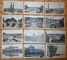 12 régi Bécs képeslap képes levelezőlap postatiszta