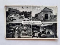Régi képeslap Sashalom Nyirády étterem vendéglő