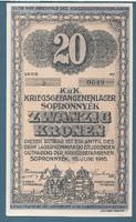 20 Korona Sopronnyék ( Sop - 8a ) UNC Arab Sorozatszám