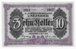 10 Fillér Nezsider ( NEZ- 1c ) aUNC - UNC 1914 Sorozat 1917 Sorszámmal