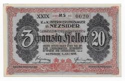 20 Fillér Nezsider ( NEZ- 2b ) aUNC - UNC Sorozat előtt MS