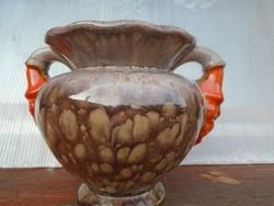 Toledói kerámia kétfüles lüszter PUM stilusu  Picasso  váza