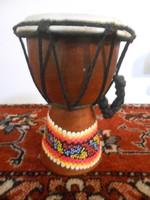 Dob hangszer ütős indonéz fa bőr 15*11*11 cm