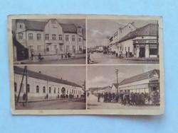 Régi képeslap 1952 Sarkad épület bolt húsbolt