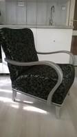 Felújított art deco fotel, prémium minőségű kárpittal