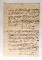Bezerédi Sándor és Bezerédi István között íródott megállapodás. 1765.  ( vízjeles )