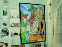 Scheiber Hugó szignóval olaj,vászon festmény